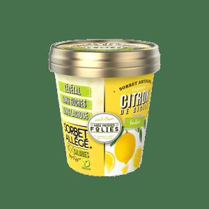 Sorbet vegan, allégé en calories Citron de Sicile