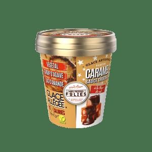 Glace Vegan, allégée en calories Caramel & Sauce Chocolat