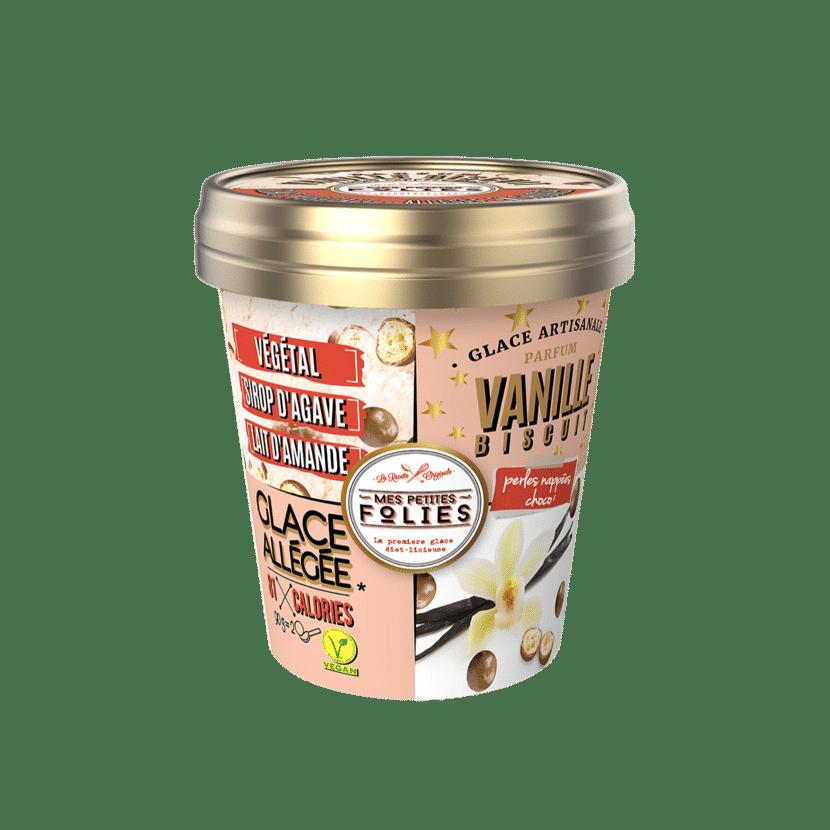 Glace Végétale, allégée en calories Vanille & Biscuit