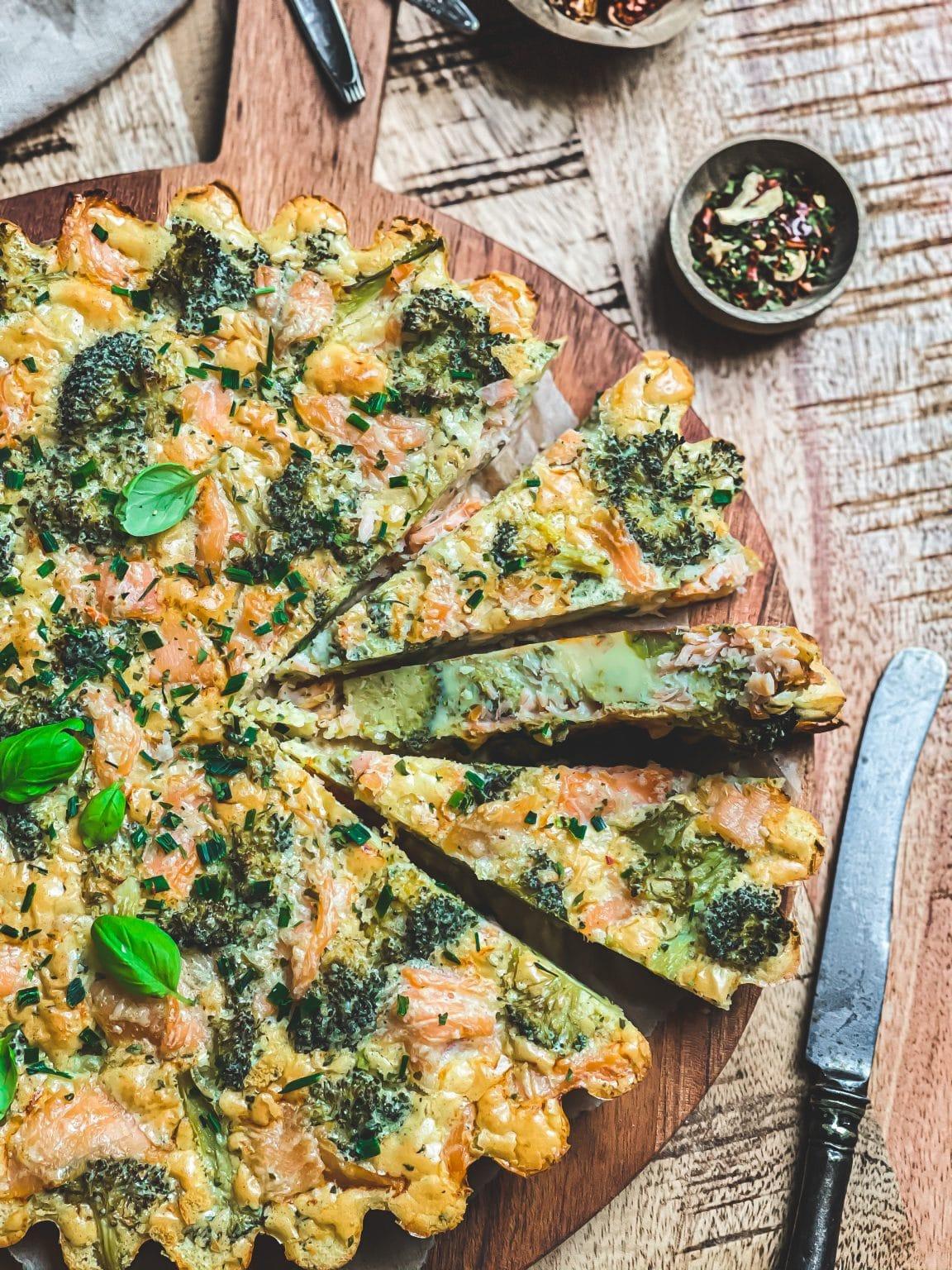 recette facile tarte vegan brocoli