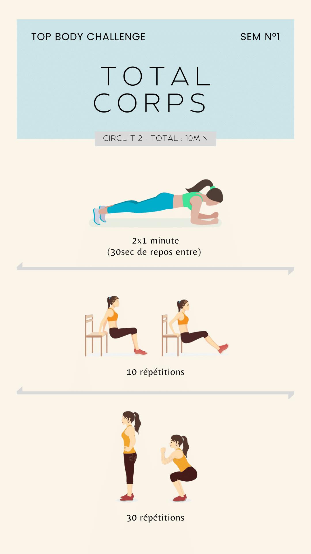 exercice top body challenge