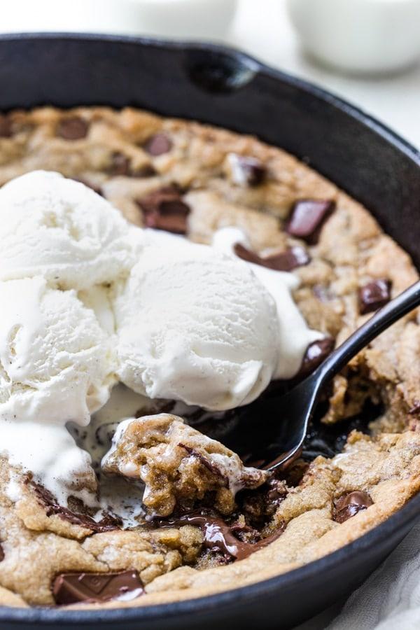 brookie glace dessert rapide