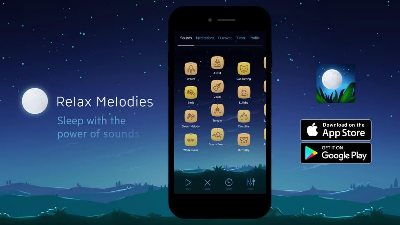 hygiène de vie sommeil relax melodies application