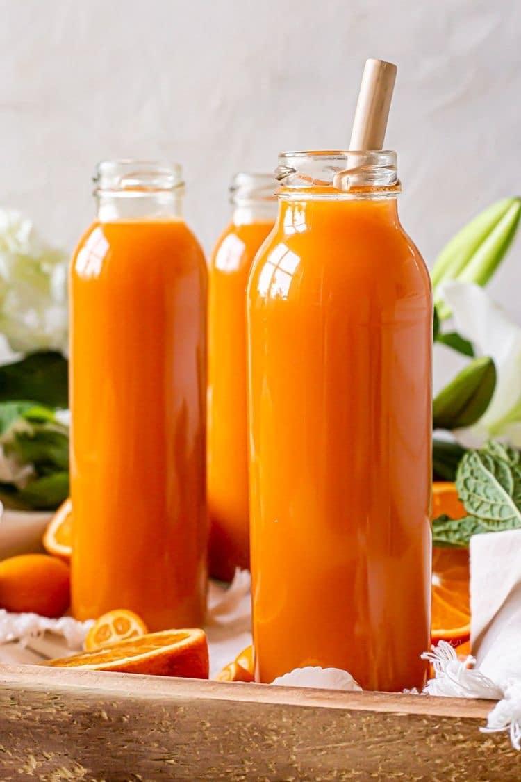 jus orange pomme carotte gingembre